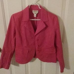TALBOTS CORAL BLAZER WITH POCKETS